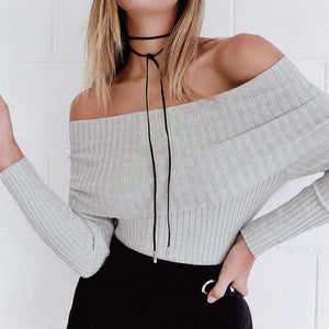 off shoulder pullover