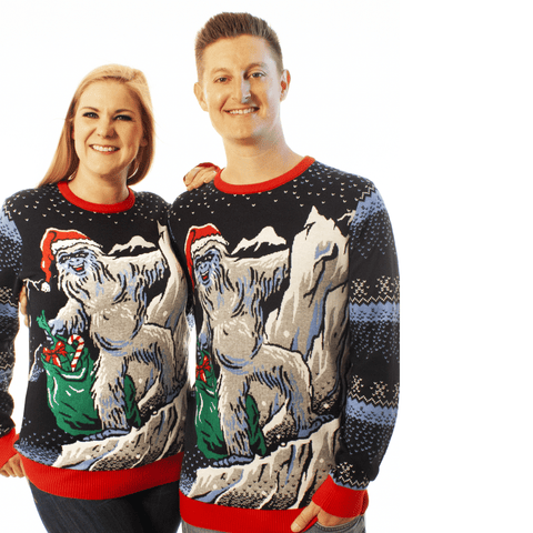 ugly christmas sweater yeti expedition everest abominable snowman matterhorn