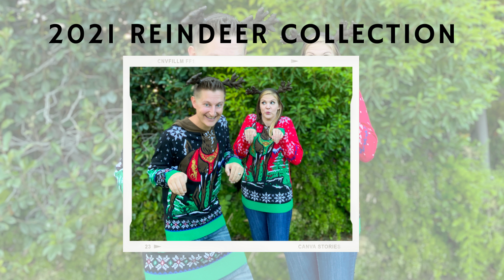 2021 reindeer ugly christmas sweater collection