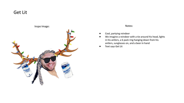 get lit ugly christmas sweater reindeer notes
