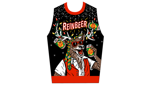 reinbeer ugly christmas sweater front panel design