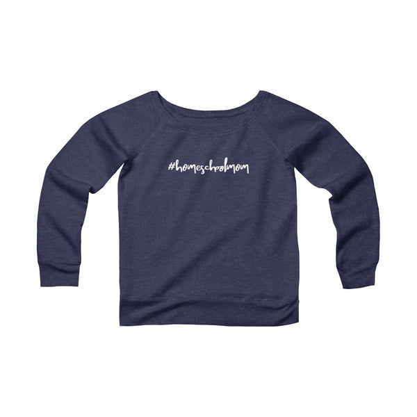 Homeschool Mom Wide Neck Pullover