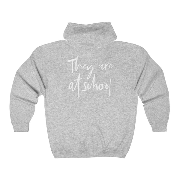 They Are At School Zip Hoodie