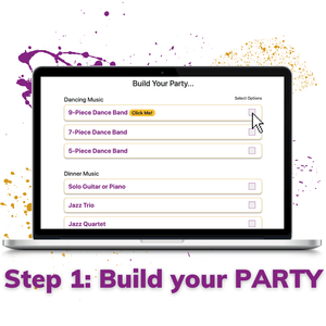 step 1 build your party for wedding music and event entertainment