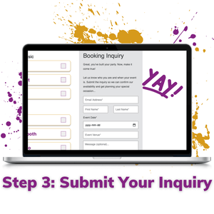 step 3 submit your wedding service inquiry