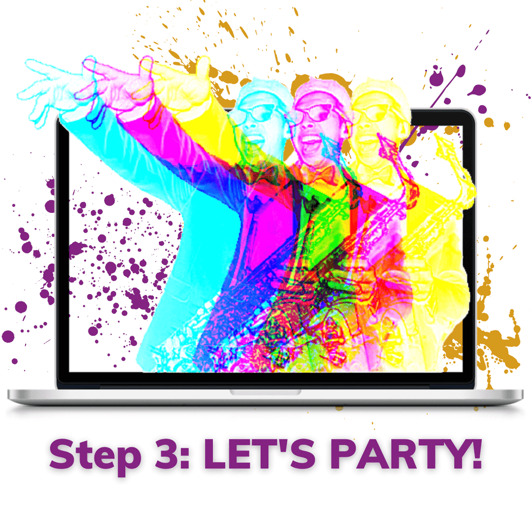step 3 lets party and enjoy your wedding music band