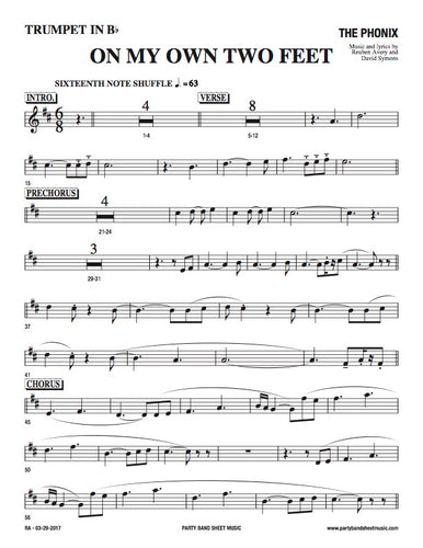 On My Own Two Feet (Sheet Music) - Horn and Rhythm Parts