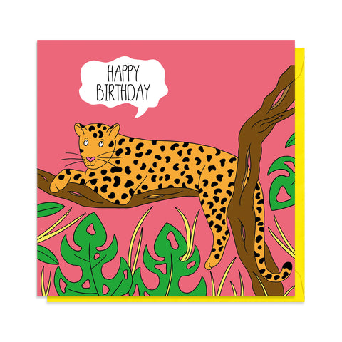 Jaguar Birthday Card