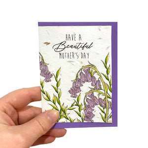 Bluebell Mother's Day Seed Card