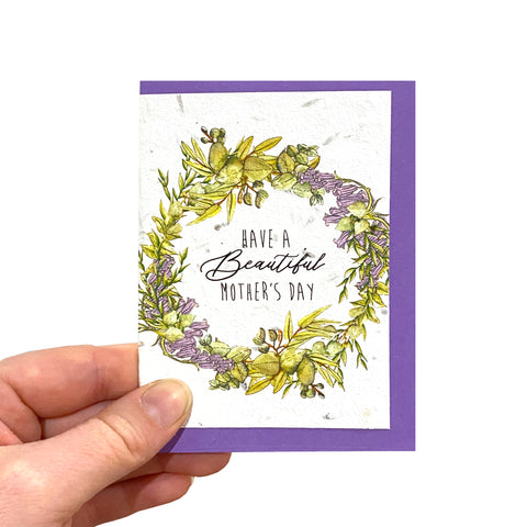 Wreath Mother's Day Seed Card