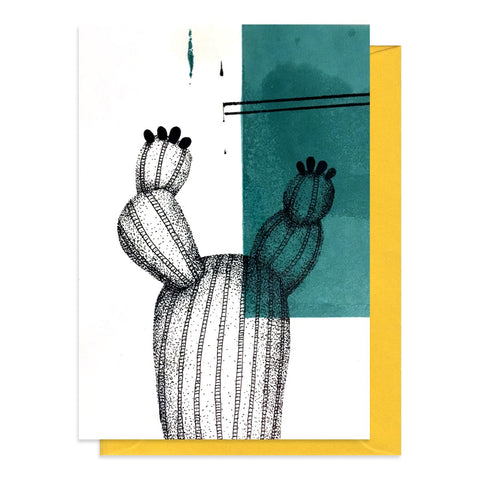 Greetings card featuring an illustration of a cactus