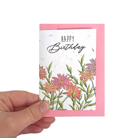 Daisy Seed Birthday Card