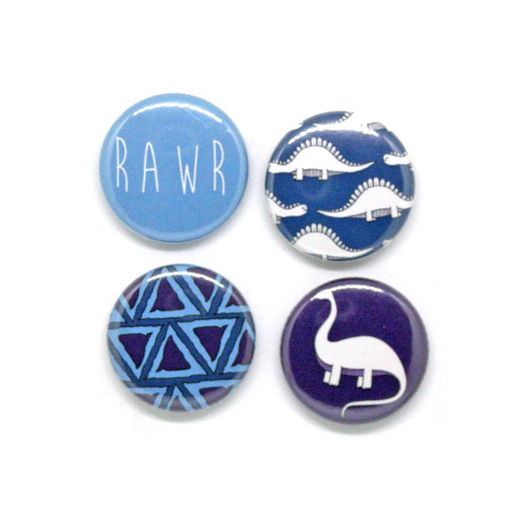 Dinosaur gift box - set of 4 dinosaur badges
