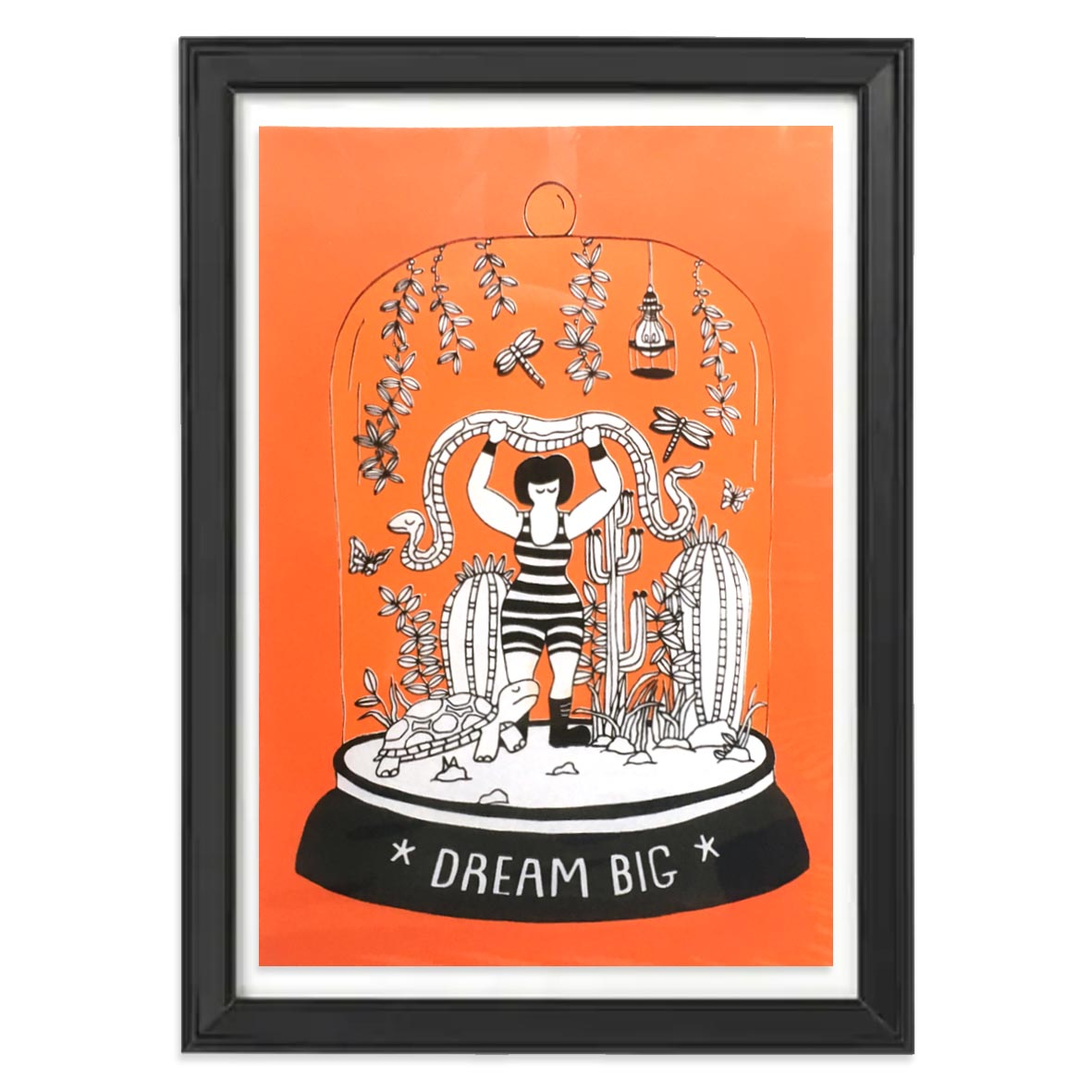 Dream Big screen print that was created for Colony of Artists