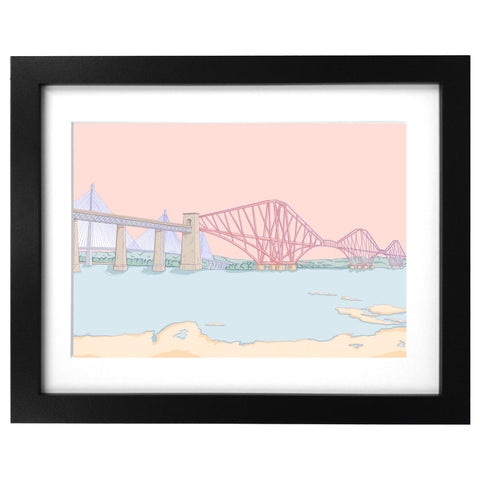 Forth rail bridge edinburgh art print