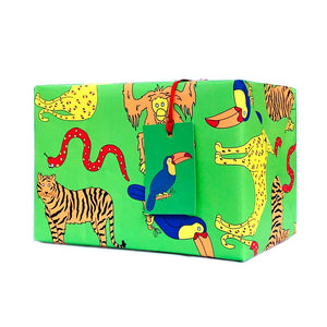 Jungle Wrapping Paper and Gift Tags