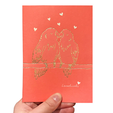 Lovebirds Valentine's Card