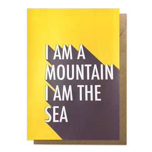 I am a mountain lyric card
