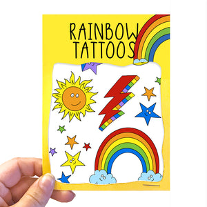 Rainbow Transfer Tattoos