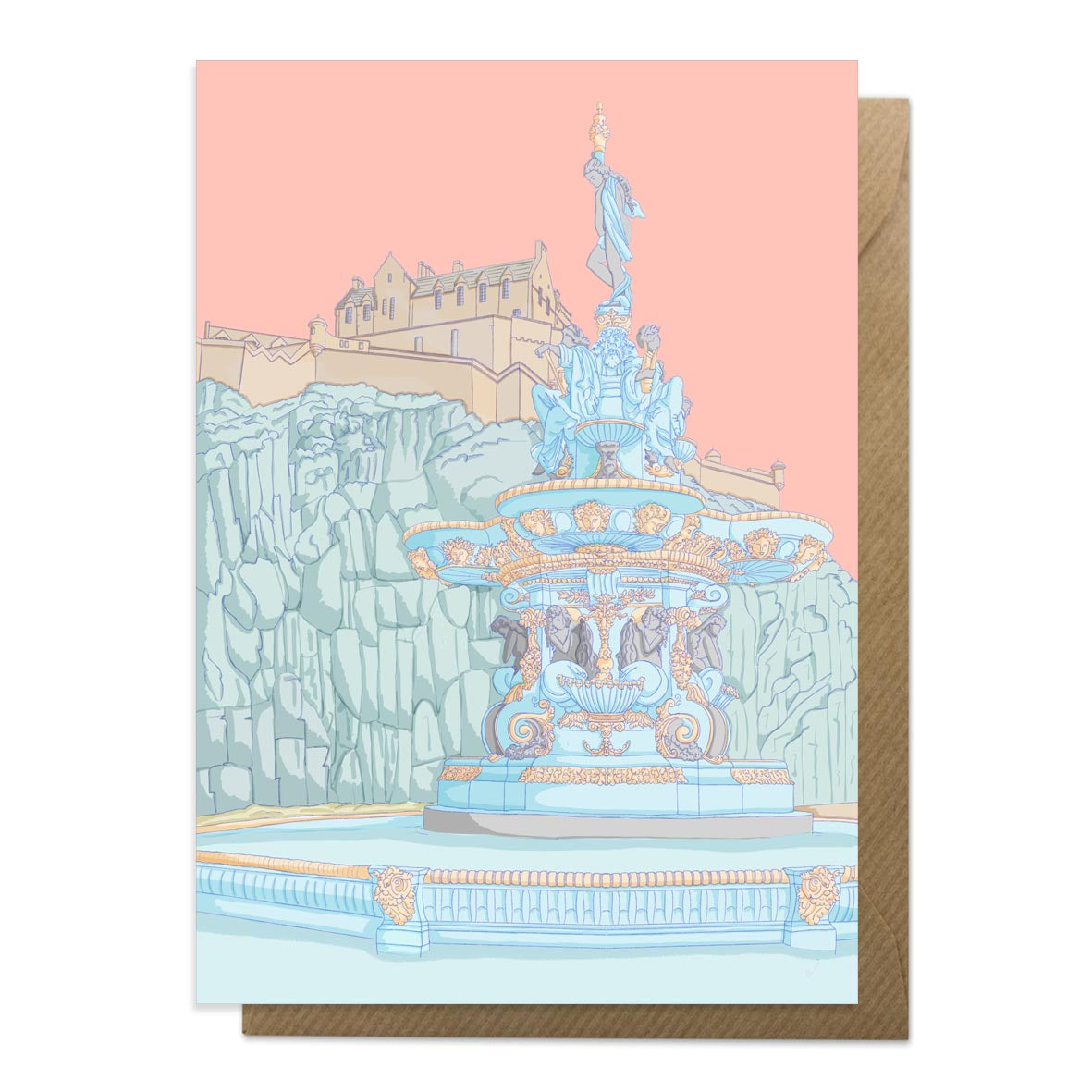Ross Fountain Edinburgh Greetings Card