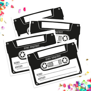 Cassette tape song request card