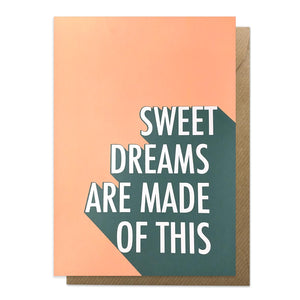 Sweet Dreams lyric card