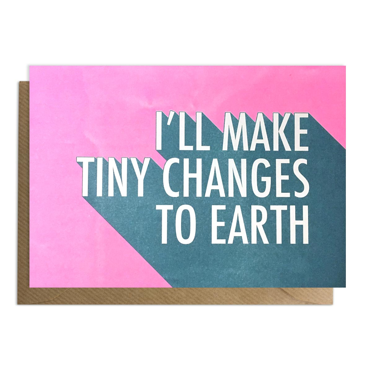 Pink tiny changes to earth card