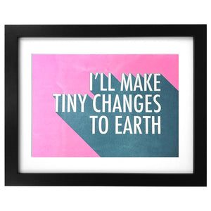 Framed Tiny Changes Risograph Print