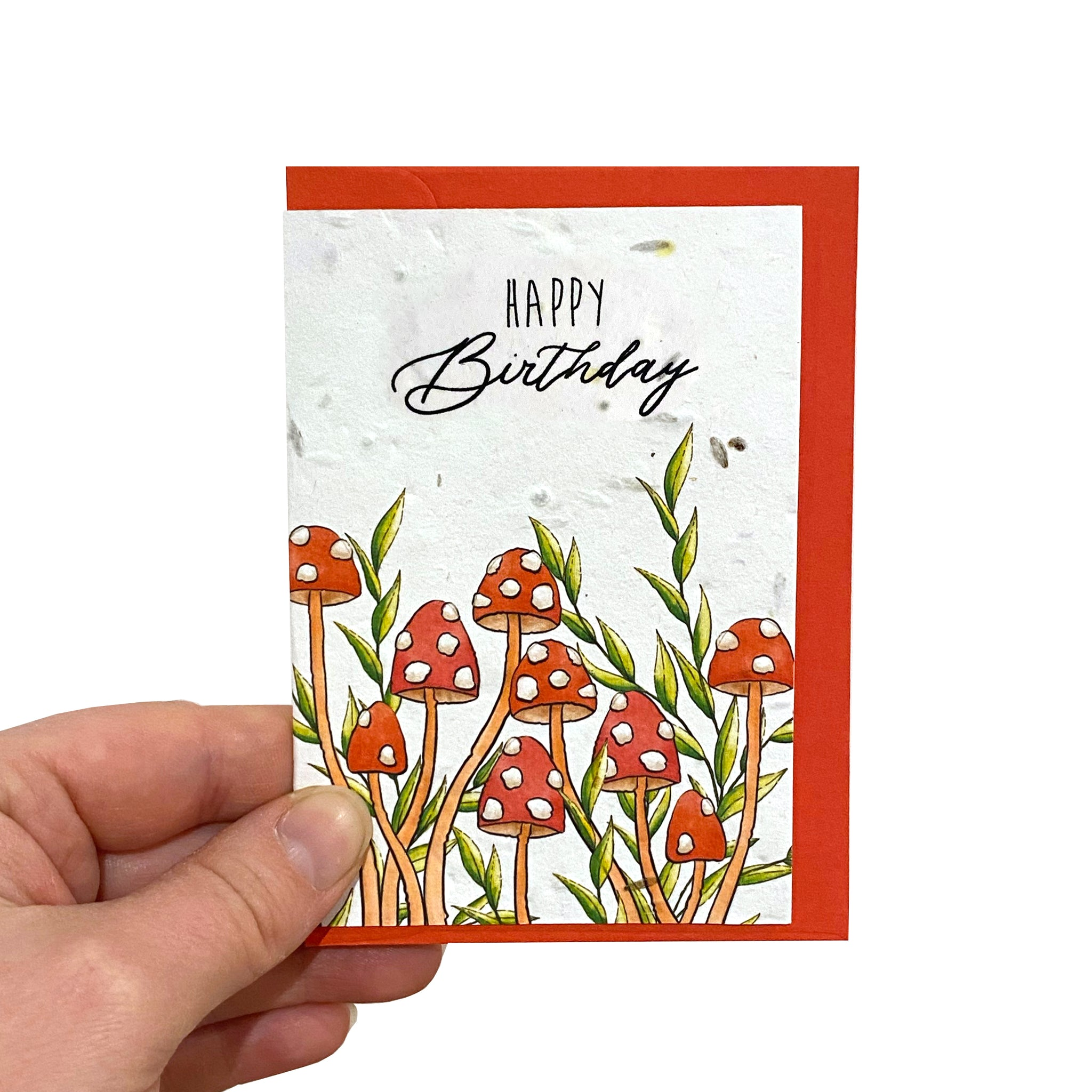 Toadstool Seed Birthday Card