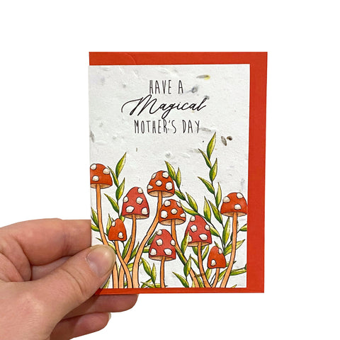 Toadstool Mother's Day Seed Card
