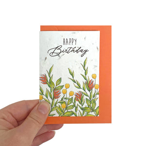 Tropical Seed Birthday Card