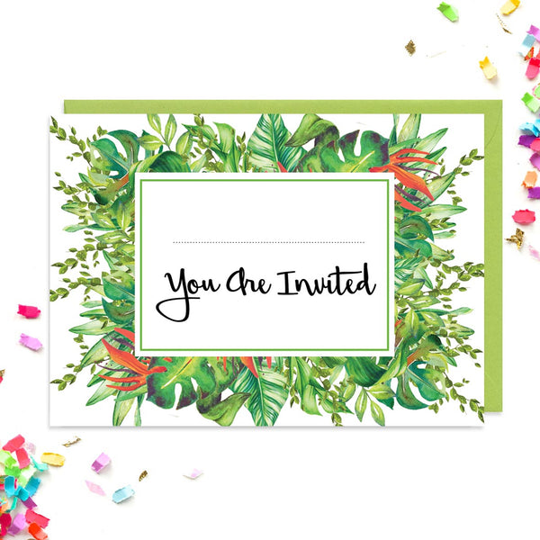Tropical Leaf Wedding Invitations