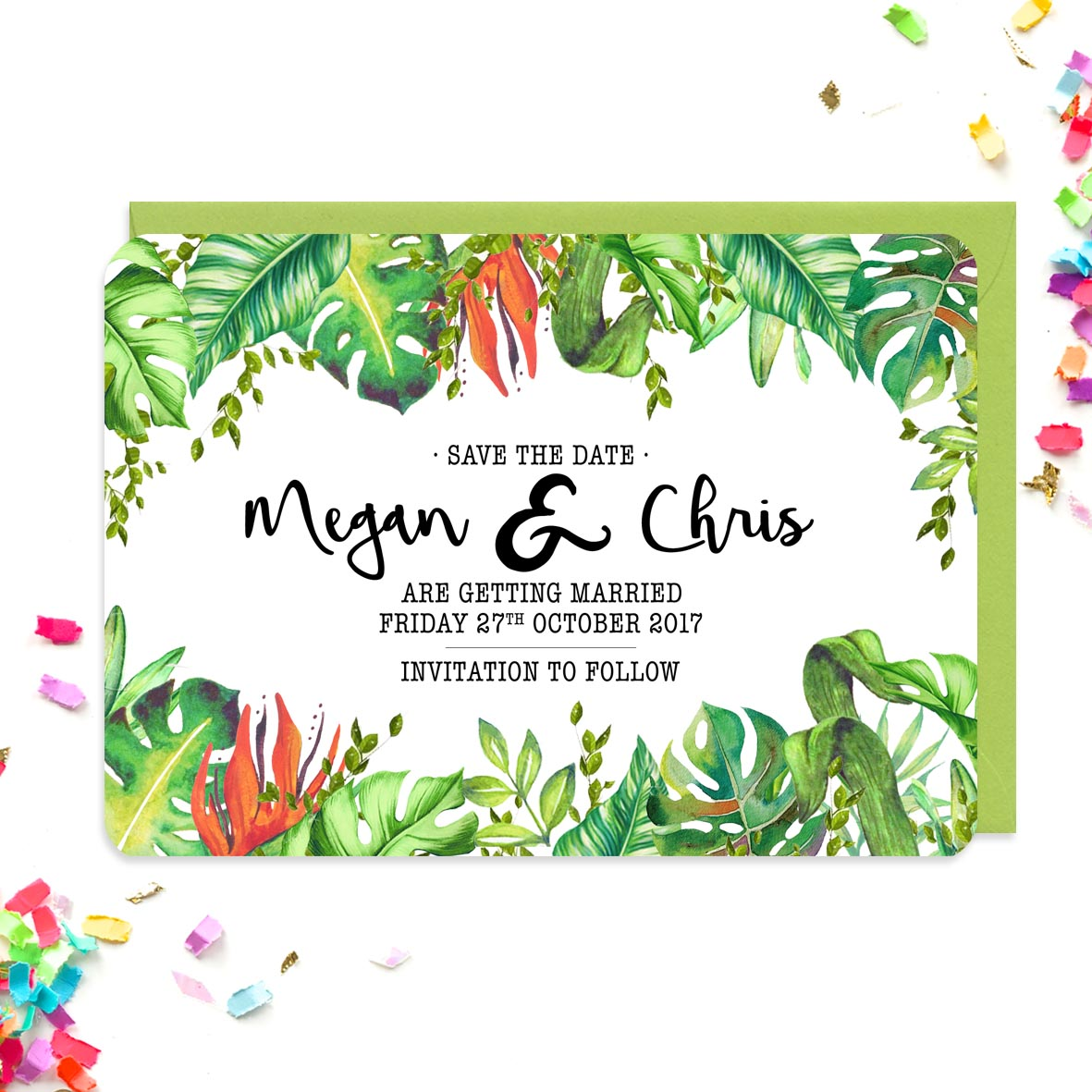 Tropical Save The Dates