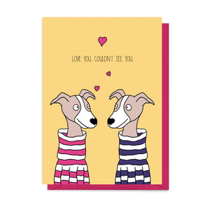 Greyhound Valentine's Card