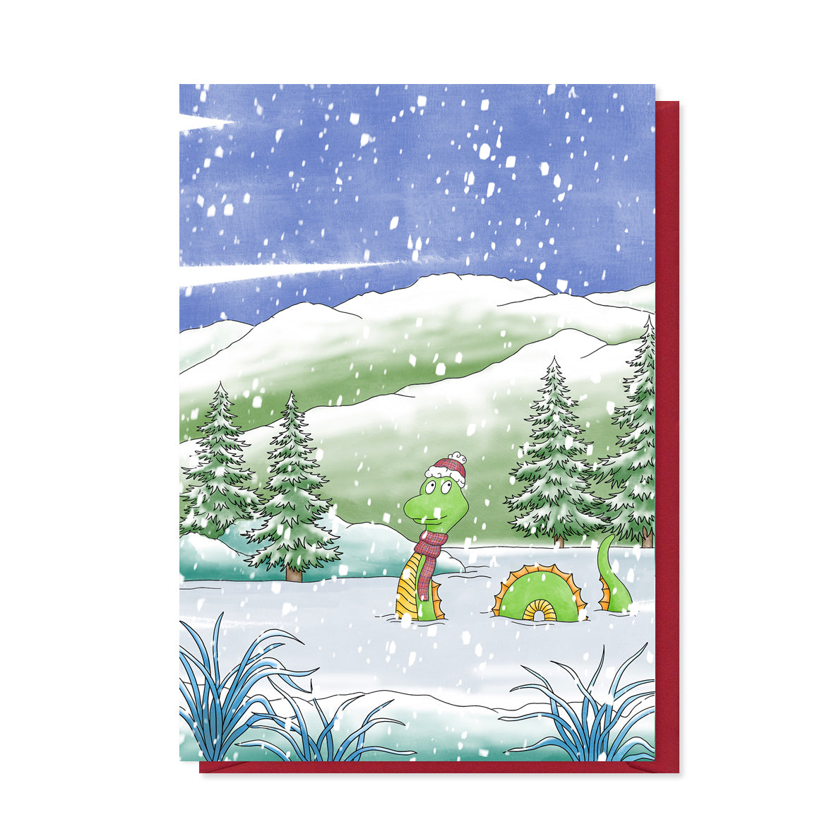 Nessie Christmas Card