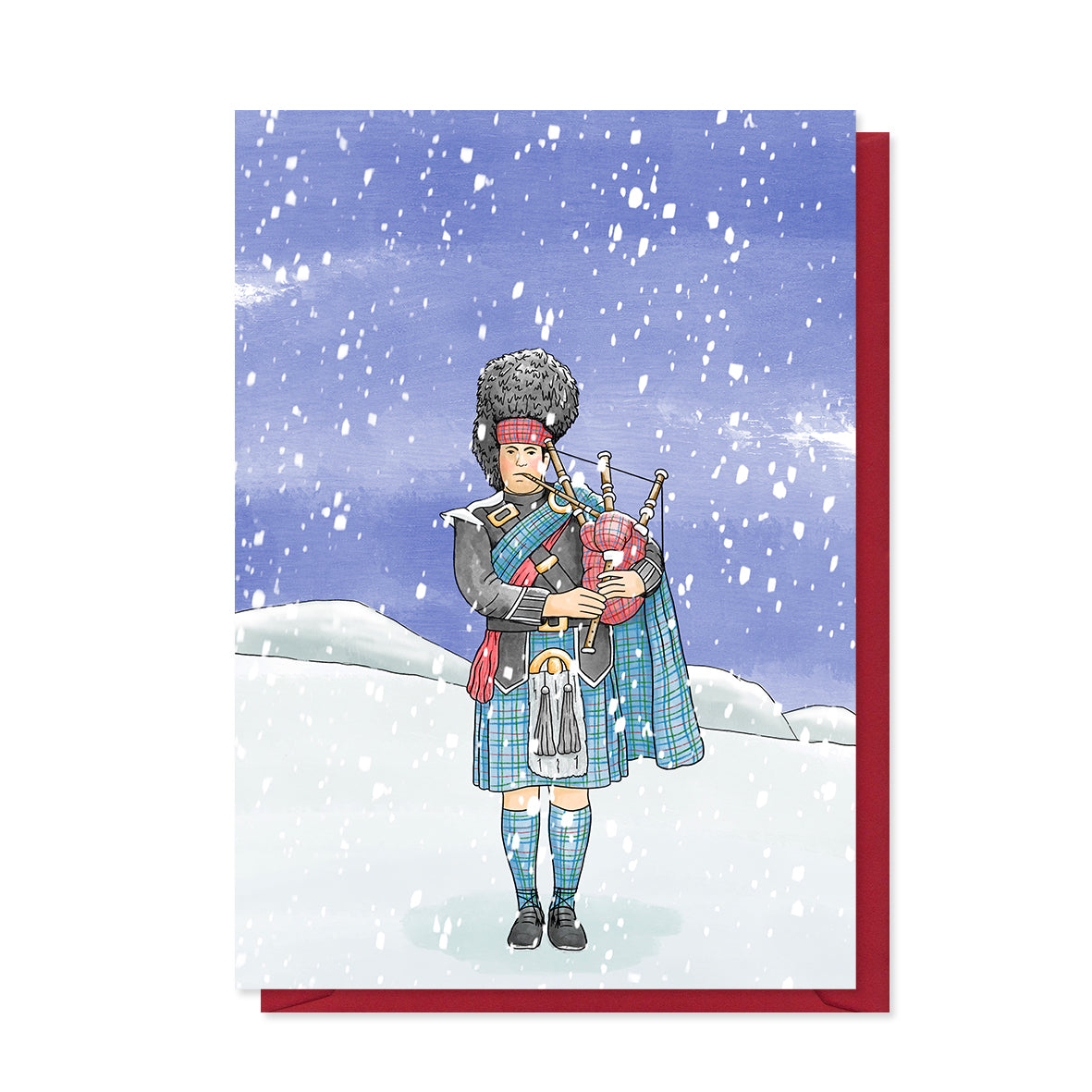 Bagpiper Christmas Card