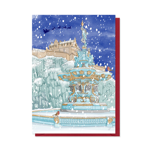 Ross Fountain Edinburgh Christmas Card