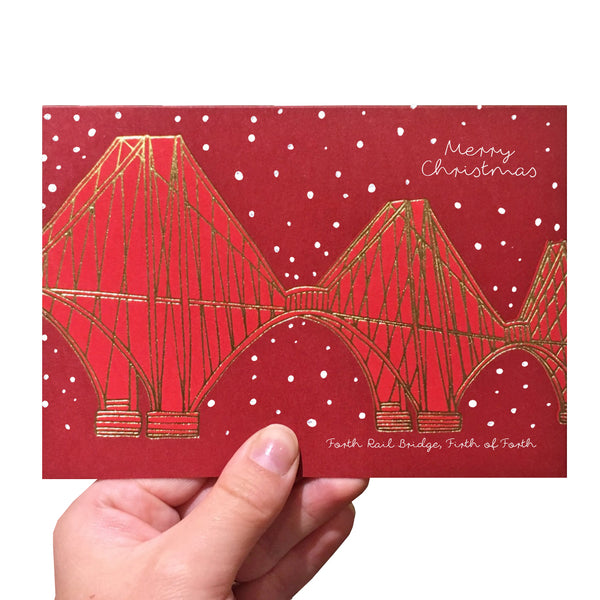 Red Forth Rail Bridge Christmas card