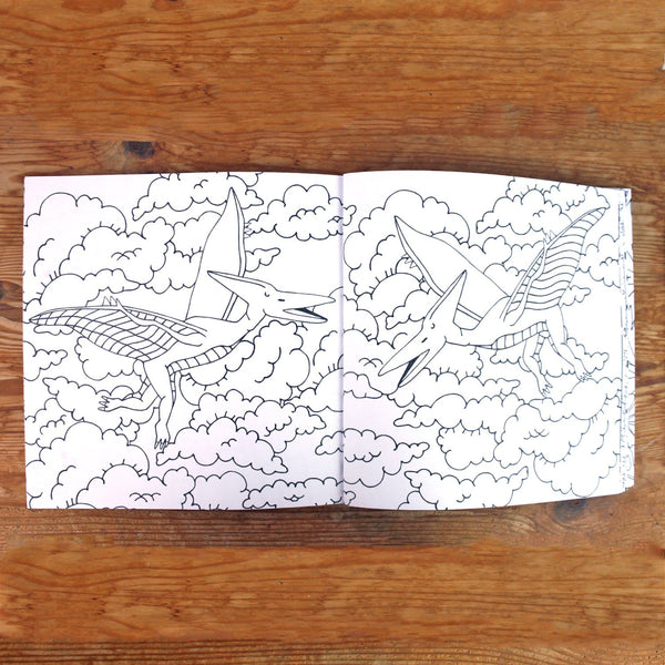 Dinosaur Colouring Book - Neon Magpie