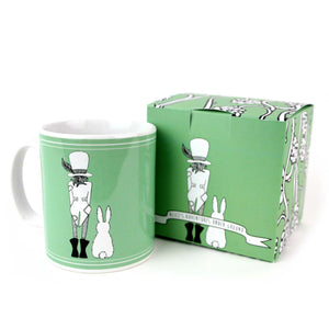 Green Mad Hatter quotes mug