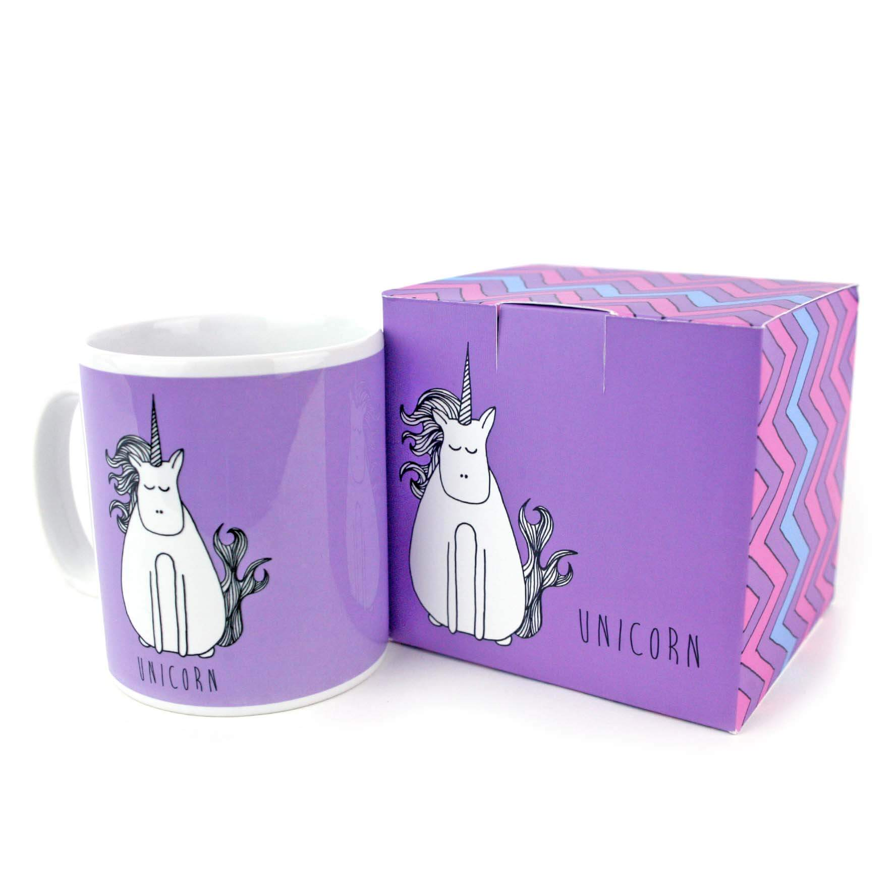 Purple unicorn mug with gift box Unique Gift