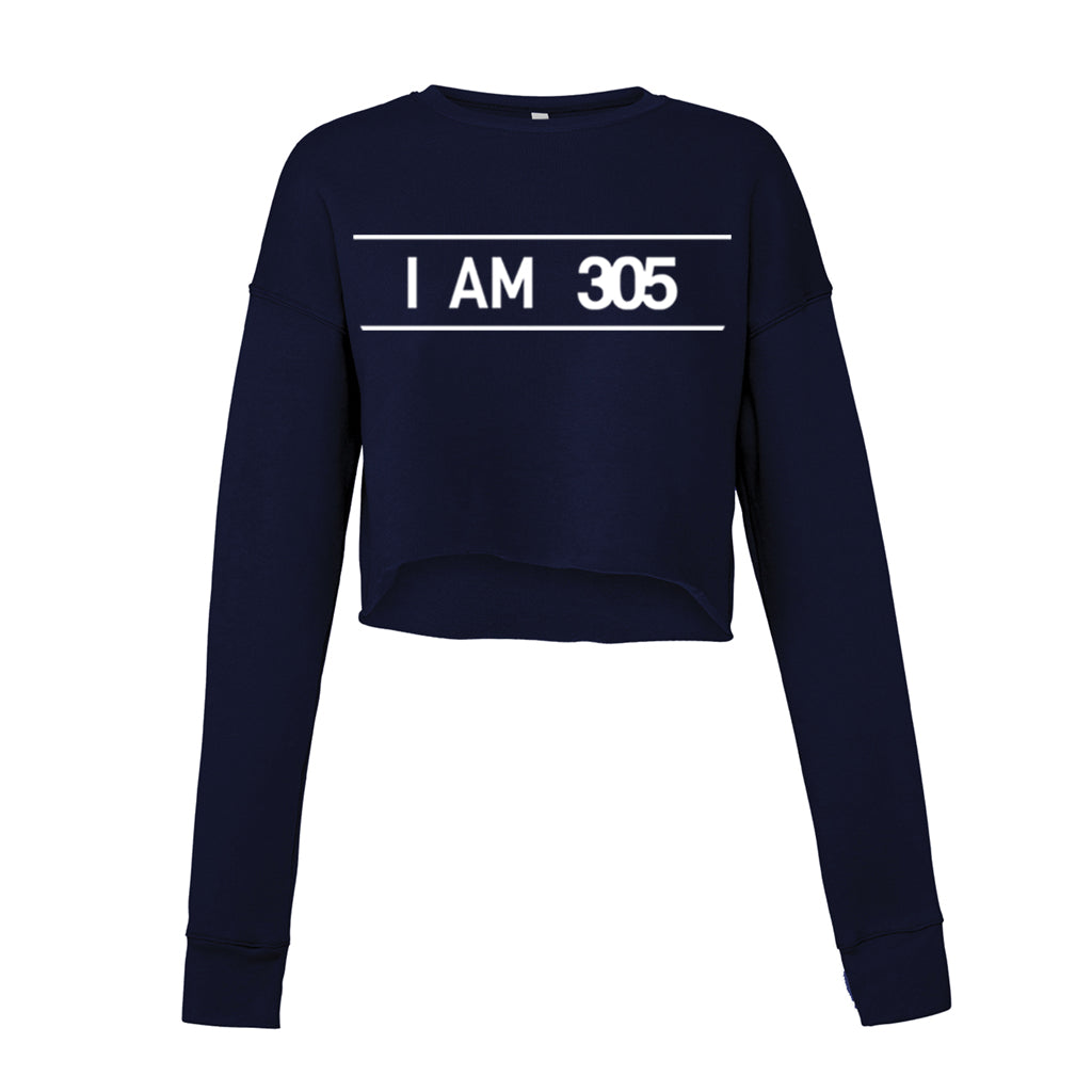 I AM 305 PURE Fleece Cropped Sweatshirt