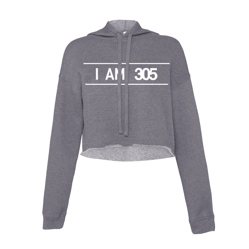 I AM 305 PURE Fleece Cropped Hoody