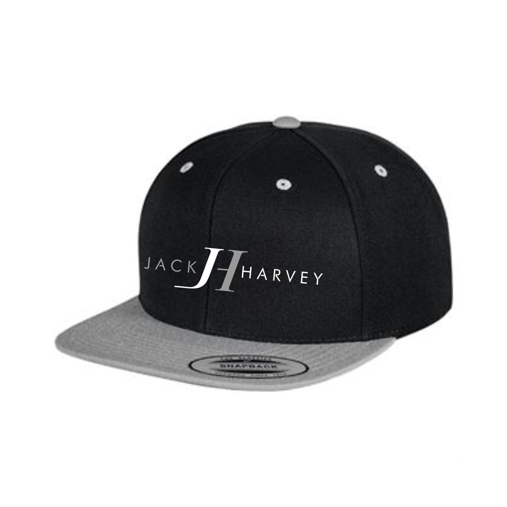 Jack Harvey Black/Grey Snapback Cap