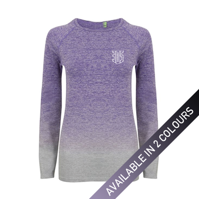 Womens Shield Marl FADE Long Sleeve T