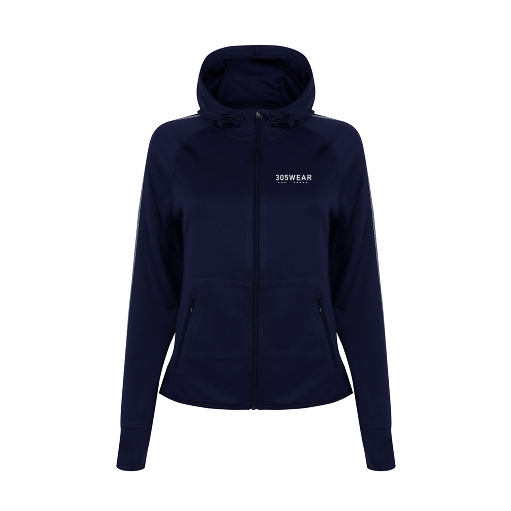 Wordmark FADE Running Zip Hoody