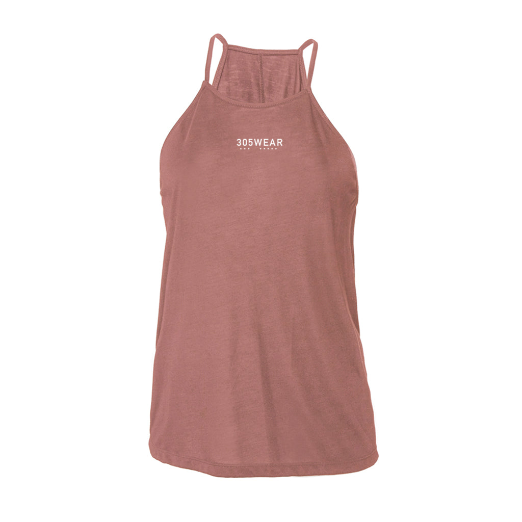 Wordmark PURE Flowy High Neck Tank