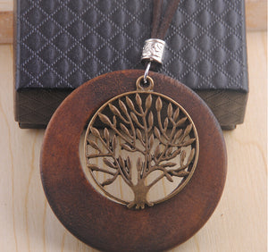 Ancient 'Tree of Life' Wooden Necklace