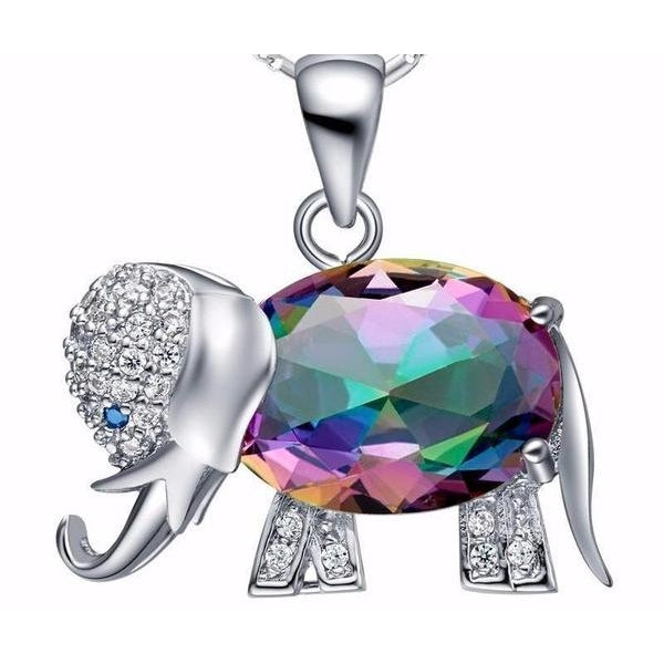 Beautiful Rhinestone Elephant Necklace - The Gold Rich - Discovering unique and affordable jewelry and accessories before they become trends.