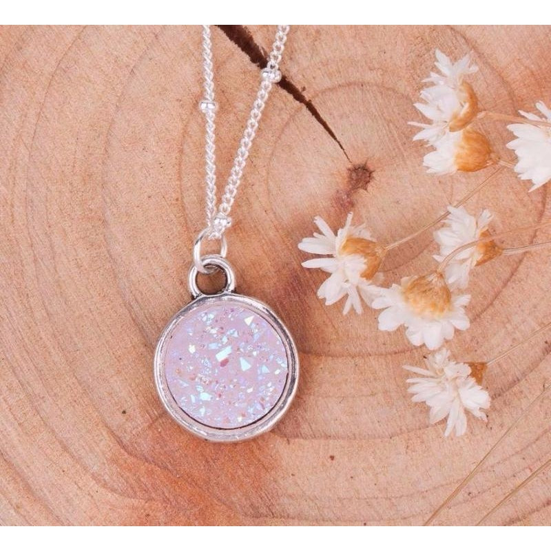 Fiery Pink Opal Necklace